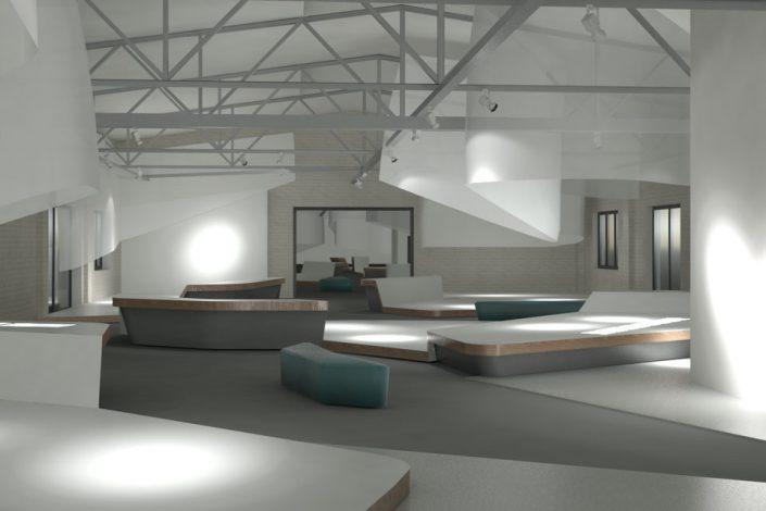 3D-Visualisierung Ausstellungsraum Deutsches Technikmuseum Berlin