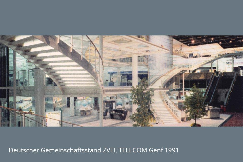 Deuterscher Gemeinschaftsstand TELECOM Genf 1991