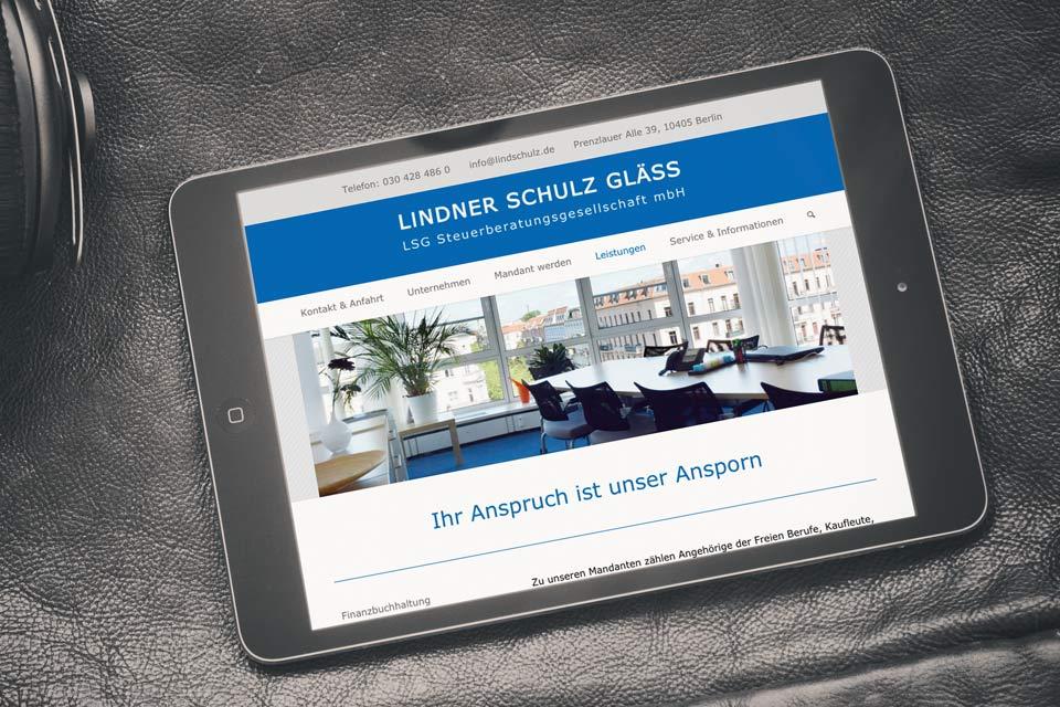Website LSG Steuerberatungsgesellschaft