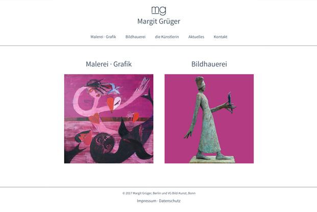 Link zur Website der Künstlerin Margit Grüger