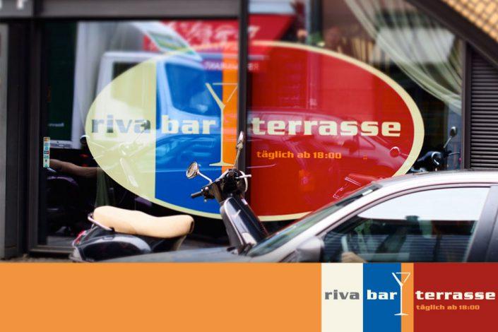 Beschriftung Riva Bar Berlin