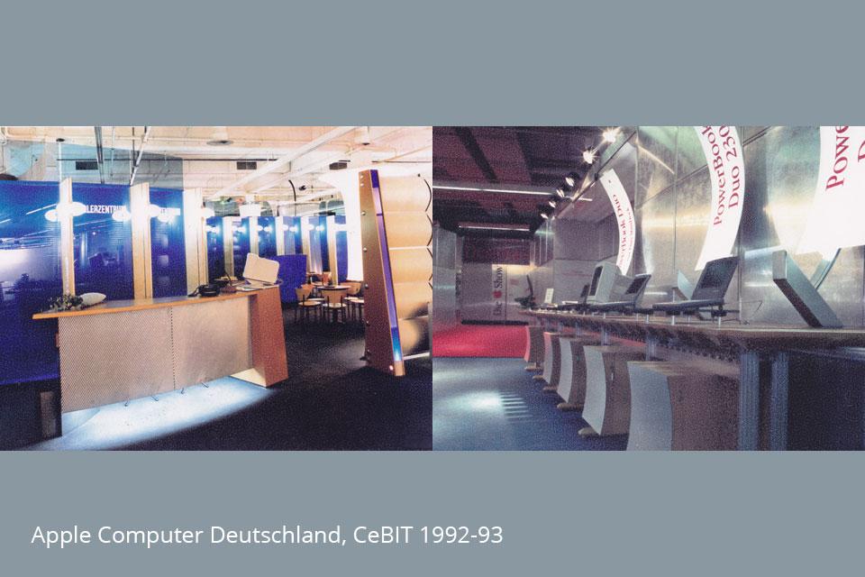 Messestände Apple Computer, CeBIT 1992 - 93