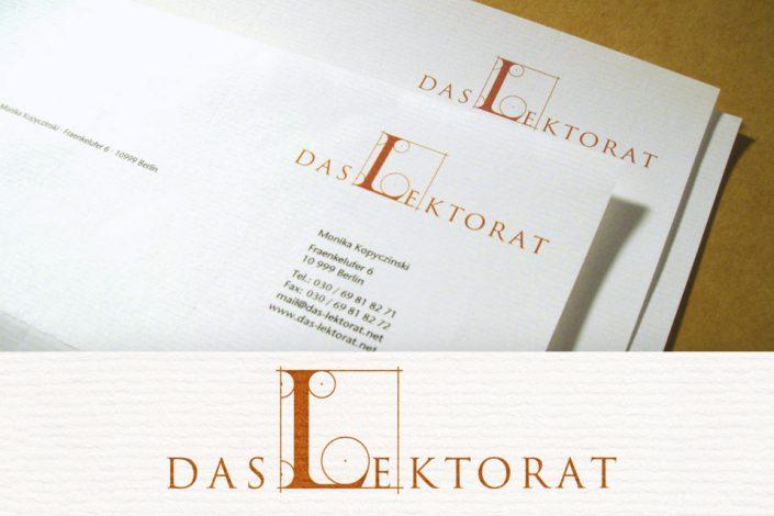Logo und Briefbogen Das Lektorat