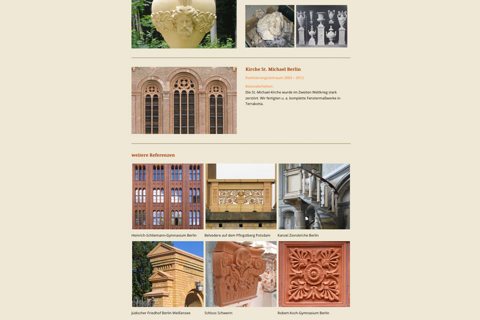 Website Keramikmanufaktur Melzer