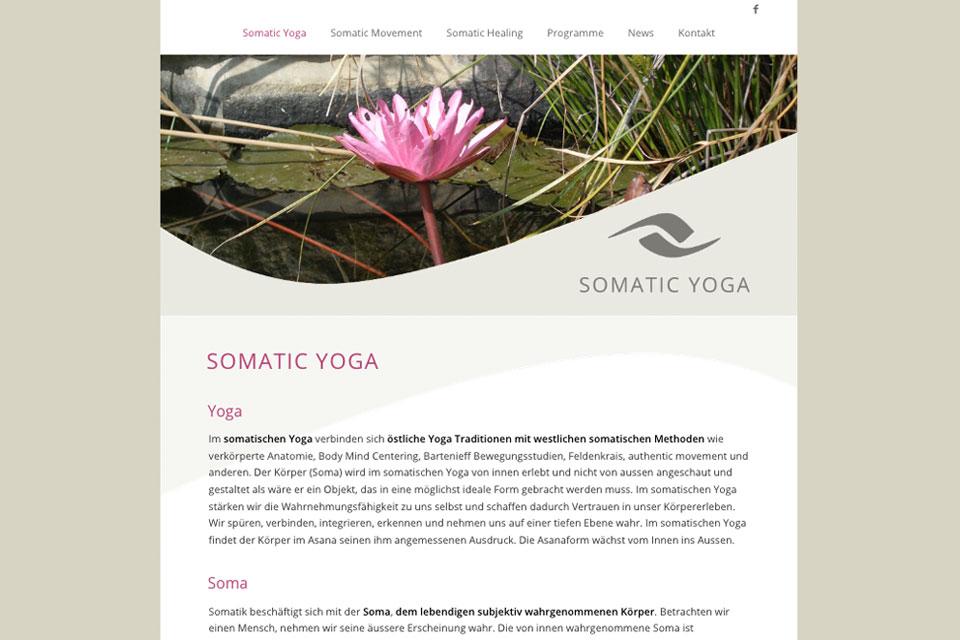 Website Somatic Yoga Pia Fischer