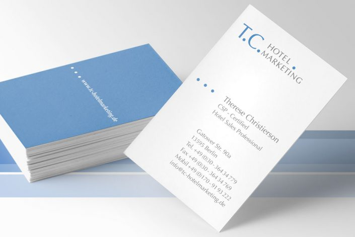 Logo und Visitenkarten T.C. Hotel Marketing