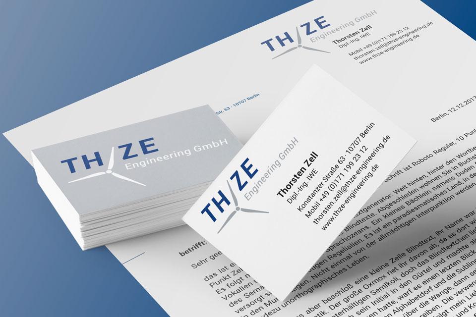 Geschäftsausstattung THZE Engineering