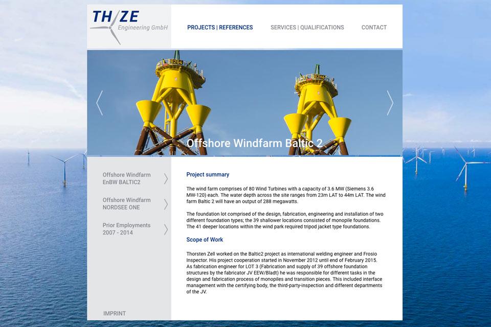 Website THZE Engineering