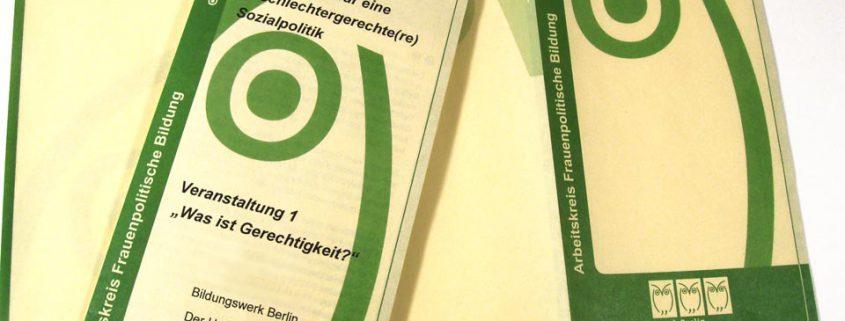 Blankofolder für Böll Stiftung